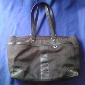 Large Coach Purse with Numerous Pockets and Wallet